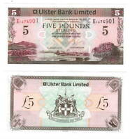 NORTHERN IRELAND Ulster Bank UNC 5 Pounds (2013) P-340b Banknote Paper Money