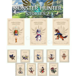 For Nintendo Switch Monster Hunter Stories amiibo Card Fire Dragon Aina Moon Dew