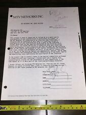 RARE PAUL STANLEY of KISS MTV Agreement Signed Autographed - Gene Simmons