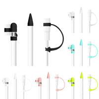 Fit For Apple Pencil 1st Gen Soft Cap Holder + Nib Tip Cover + Tether 3pcs/set