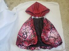 Ever After High Costume Red Black Gray Hooded Cape For Creisa size L