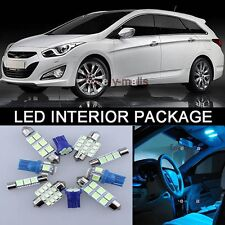 8x Bulbs For HONDA CIVIC MK8 2005-2016 INTERIOR PACKAGE ICE BLUE LED LIGHT KIT