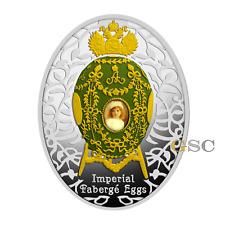 Niue Island 2015 1$ Alexander Palast Ei Imperial Faberge Eier Eggs Silbermünze
