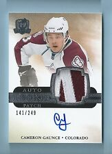CAMERON GAUNCE 2011/12 THE CUP ROOKIE AUTO PATCH RC 3 COLOR PATCH AUTOGRAPH /249