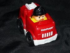 Fisher Price Little People Wheelies Fire Truck Man