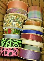 Vintage WFR Fabric Ribbon Lot 3 Pounds of Fabric Ribbon Moire Satin 7
