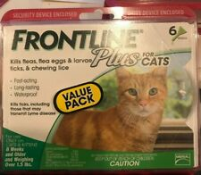 Frontline Plus for Cats 8 Weeks 6 Doses Genuine Factory Sealed Free Ship