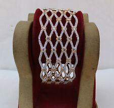 Simulated Cubic Zirconia Bangles Indian American Fashion Jewelry Cuff Bracelet