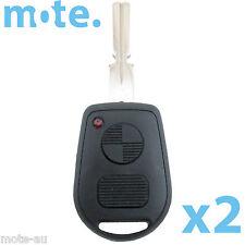 2 x BMW 2 Button Key Remote Case/Shell/Blank 3-5-7 SERIES X3 X5 Z4 E38 E39 E46