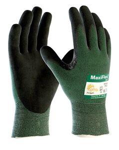 6 x MaxiFlex 34-8743 Cut Resistant Level 3 Glove Premium Nitrile Coated Palm