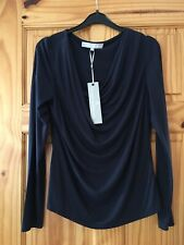 Navy Fenn Wright Manson Slouch Neck Top, Size Large