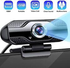 Webcam 1080p Full HD mit Mikrofon USB Kamera 2.0 Plug Live-Streaming Konferenz