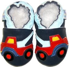 Leather Baby Shoes Infant Kid Children Boy Crib Toddler Gift Truck Navy 18-24M
