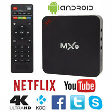 MX9 4K 2K 1080P Smart TV BOX XBMC/Kodi H.265 Android Quad Core WiFi 8GB Mini PC