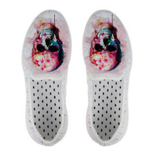 Skull Aqua Water Shoes Casual Womens Beach Surf Slip On Comfy Hole Quick Dry