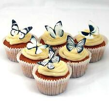 Cakeshop PRECUT 12 White Edible Butterfly Cake Cupcake Toppers Decorations