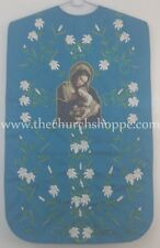 Marian Blue Roman Chasuble Fiddleback Vestment & 5pc mass set Mother Mary Print