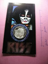 PETER CRISS KISS 1996-1997 ALIVE WORLDWIDE TOUR MINT SEALED 999 SILVER COIN RARE