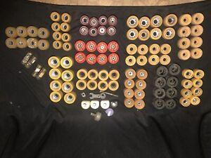 HUGE LOT of Vintage Roller Skate Wheels & Stuff 12 SETS Labeda Formula II etc!!!