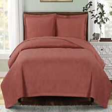 Simple Emerson Solid Quilted Coverlet Set