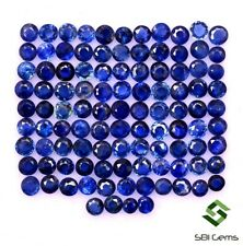 1.11 Cts Natural Blue Sapphire Round Cut 2 mm Lot 25 Pcs Calibrated Gemstones