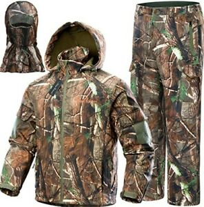 NEW VIEW Men's XXL Camo Hunting Water Resistant Suit Hooded Jacket Pants