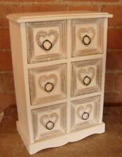 Miniature 6 Drawer Chest - White Shabby Chic / French Country Style - Solid Wood