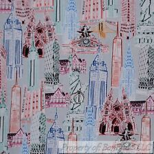 BonEful FABRIC FQ Cotton Quilt New York City NYC Statue of Liberty America*n VTG