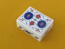 Marble Jewelry Box Stone Pietra dura Handmade Home Decor for Gift