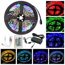 5M RGB LED Strip Leiste Streifen Band Licht 3528 SMD WIFI Controller Netzteil