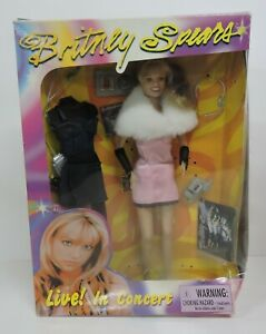1999 PLAY ALONG BRITNEY SPEARS LIVE! IN CONCERT BARBIE DOLL