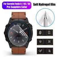 Garmin Fenix 6-6s 6x pro Zafiro Protector de pantalla Gel de agua Tpu blando