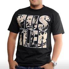 Mens NWT Hustler Short Sleeve T-Shirt Black Cotton L