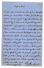 BIANCHI, Nicomede - Storico, Senatore - Lettera di raccomandazione