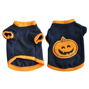 Halloween Pet Dog Pumpkin T-shirt Warm Costume Breathable Clothes Apparel Charm
