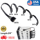 USA SATA Power 15 Pin 1 Male To 5 Female Splitter Hard Drive Cable for HDD SSD