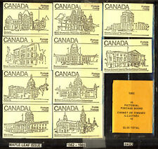 1982 TEN DIFFERENT MAPLE LEAF ISSUE BOOKLETS #BK82 COMPLETE PO SEALED SET of 10