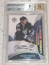 2008-09 STEVEN STAMKOS ULTIMATE COLLECTION AUTO ROOKIE RC /99 GRADED BGS 9 MINT!