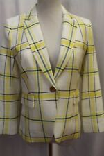 NEW VERONICA BEARD School Boy Dickey Jacket Coat Blazer Yellow Plaid 10 M L $595