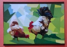 ACEO - ROOSTER AND HEN - LIMITED EDITION PRINT 50-R.BOZZETTI--14-08