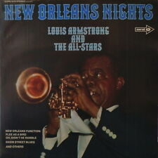 "12"" Louis Armstrong & The All Stars New Orleans Nights (Flee As A Bird) 70`s"