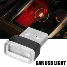 1X Red USB Wireless Flexible Neon Ambient LED light For Car Interior Decoration