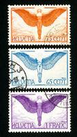 Switzerland Stamps # C10-12 XF Used Scott Value $103.50