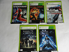 NO GAMES - XBOX 360 LOT OF 5 GAME DISPLAY BACKER CARDS- SPIDER-MAN HALO