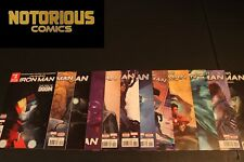 Infamous Iron Man 1-12 Complete Comic Lot Run Set Doom Bendis Marvel Collection