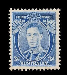 SG186 - 1940 Australia Bright Blue 3d Mint Stamp - Original Gum - CV $90 - 701a