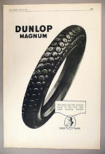 """Dunlop Magnum Tire PRINT AD - 1920 ~~ Large 11"""" x 16"""" ~~ tires, tyre"""