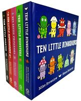 Ten Little Series 5 Books Collection Set Superheroes, Dinosaurs, Monsters,Pirate