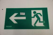Fischer Notausgang Fluchtweg Piktogramm / Schild Kunststoff Links