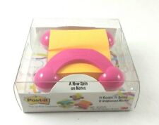 3M Post It Pop Up Note Dispenser Pink It Rocks It Spins New in Package